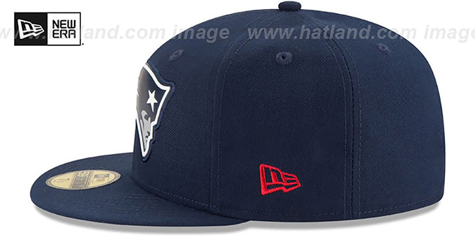 Patriots 'BEVEL' Navy Fitted Hat by New Era