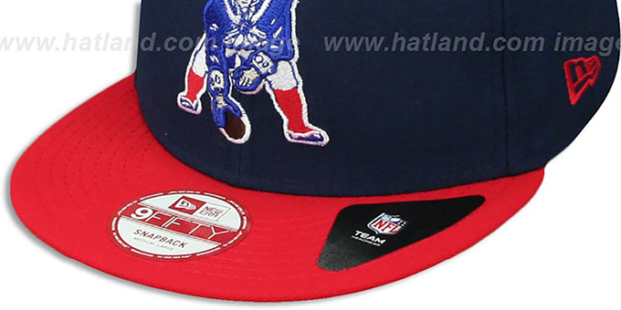 Patriots 'BINDBACK TB SNAPBACK' Navy-Red Hat by New Era