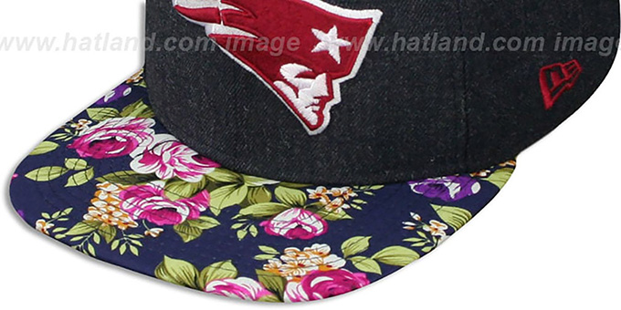 Patriots 'HEATHER BLOOM SNAPBACK' Navy Hat by New Era