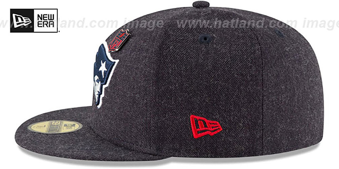 Patriots 'HEATHERED-PIN' Navy Fitted Hat by New Era