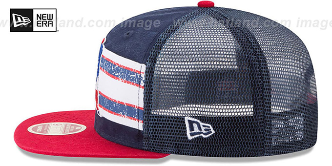 Patriots 'HERITAGE-STRIPE SNAPBACK' Navy-Red Hat by New Era