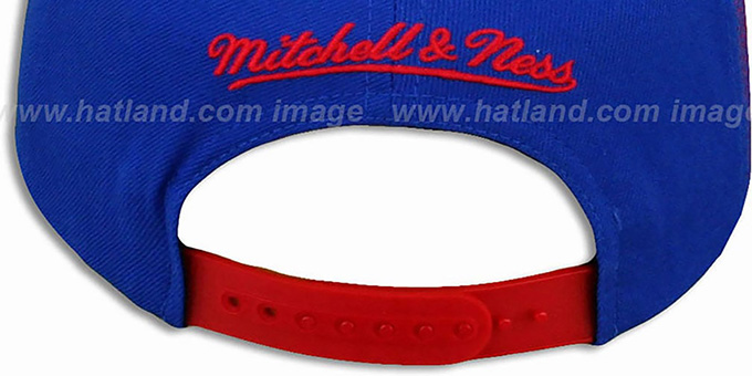 Patriots 'LASER-STITCH SNAPBACK' Royal-Red Hat by Mitchell & Ness