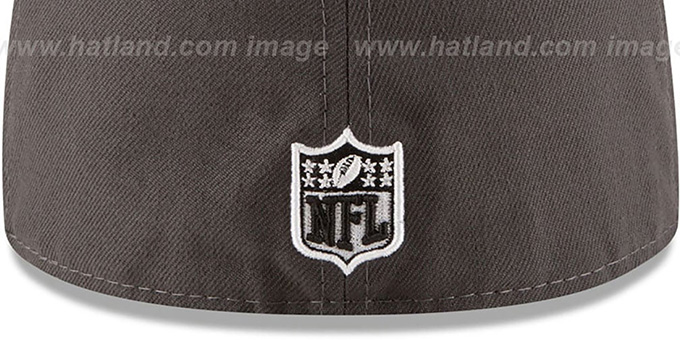 Patriots 'METAL HOOK' Grey-Black Fitted Hat by New Era