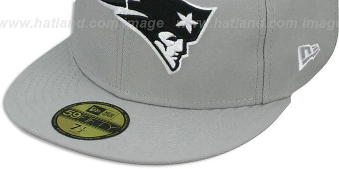 Patriots 'NFL TEAM-BASIC' Grey-Black-White Fitted Hat by New Era