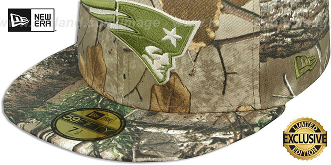 Patriots 'NFL TEAM-BASIC' Realtree Camo Fitted Hat by New Era
