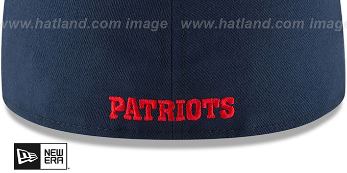 Patriots 'NFL THROWBACK TEAM-BASIC' Navy Fitted Hat by New Era