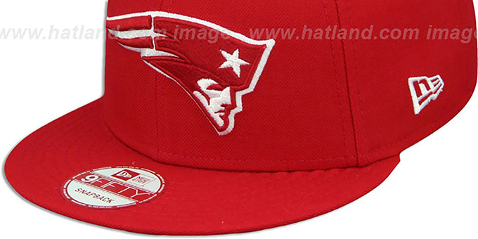 500d0df6 ... Patriots 'TEAM-BASIC SNAPBACK' Red-White Hat by New Era