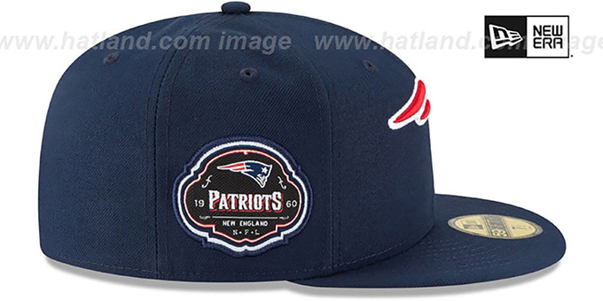 Patriots 'TEAM-SUPERB' Navy Fitted Hat by New Era