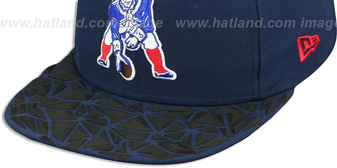 Patriots THROWBACK 'RUBBER MATTE SNAPBACK' Navy Hat by New Era