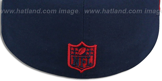 4587302e68b4ba ... Patriots 'THROWBACK SIDE TEAM-PATCH' Navy Fitted Hat by New Era