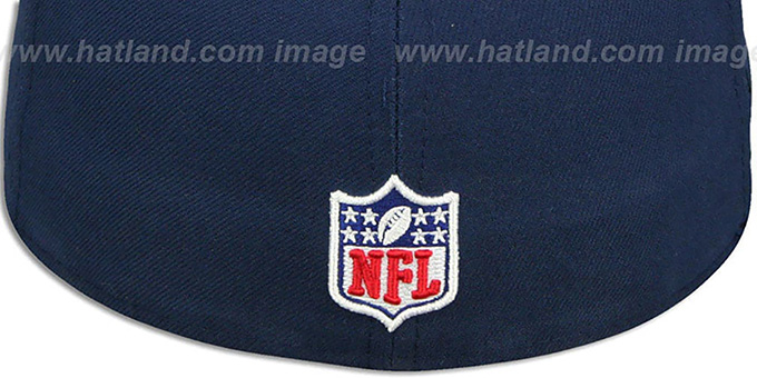 69d46da168aad2 ... Patriots 'THROWBACK SUPER BOWL XLIX CHAMPS' Navy Fitted Hat by New Era