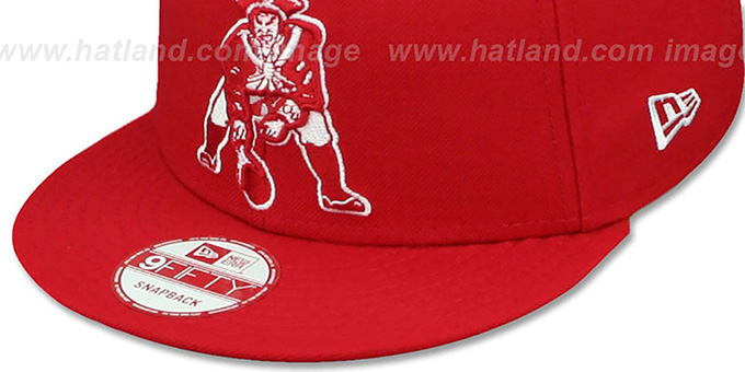 ... Patriots  THROWBACK TEAM-BASIC SNAPBACK  Red-White Hat by New Era d994116ecb9