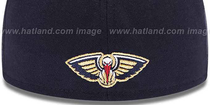 Pelicans 'SECONDARY TEAM-BASIC' Navy Hat by New Era
