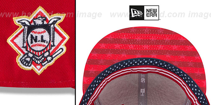 Phillies '2018 JULY 4TH STARS N STRIPES' Red Fitted Hat by New Era
