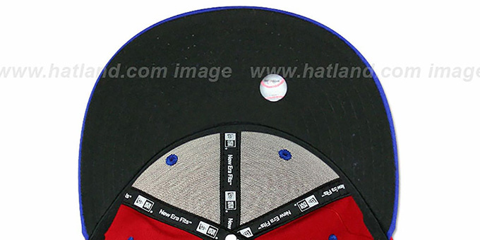 Phillies '2T PAYDIRT SNAPBACK' Red-Royal Adjustable Hat by New Era