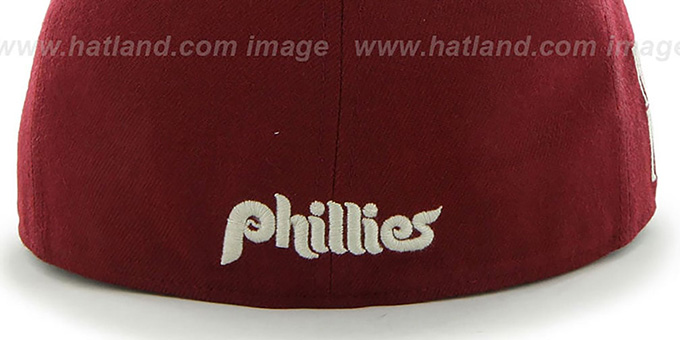Phillies COOP 'CATERPILLAR' Burgundy Fitted Hat by 47 Brand