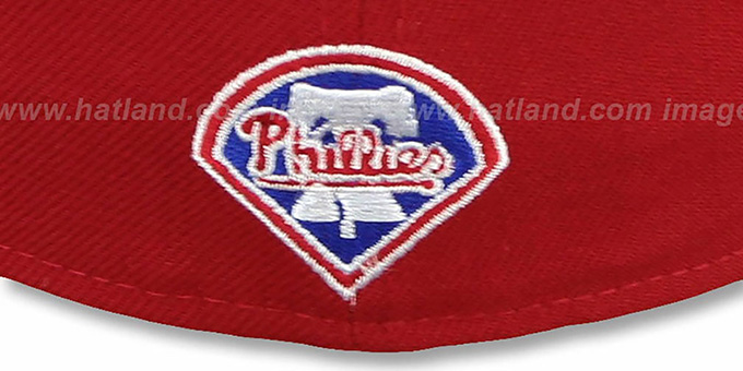 Phillies 'SCRIPT-PUNCH' Red-Royal Fitted Hat by New Era