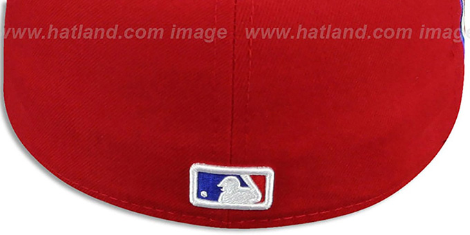 Phillies 'SIDE TEAM-PATCH' Red Fitted Hat by New Era