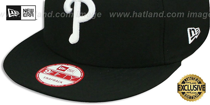 Phillies 'TEAM-BASIC SNAPBACK' Black-White Hat by New Era