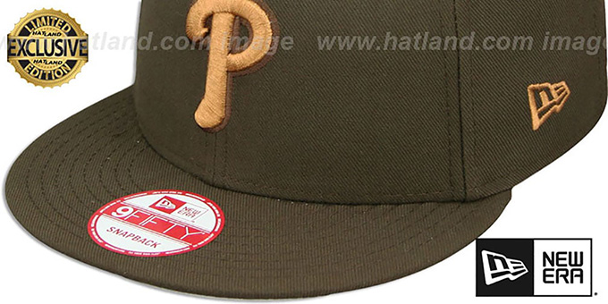 Phillies 'TEAM-BASIC SNAPBACK' Brown-Wheat Hat by New Era