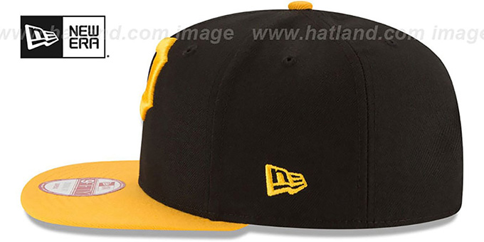 Pirates 'LOGO GRAND REDUX SNAPBACK' Black-Gold Hat by New Era