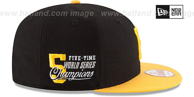 dd82b22eaaa ... Pirates  MLB STAR-TRIM SNAPBACK  Black-Gold Hat by New Era