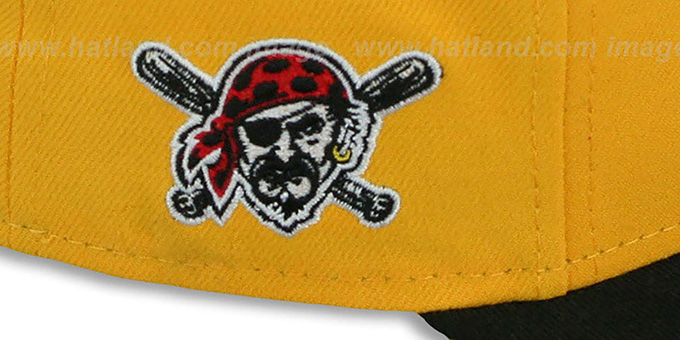 Pirates 'MLB-TIGHT' Gold-Black Fitted Hat by New Era
