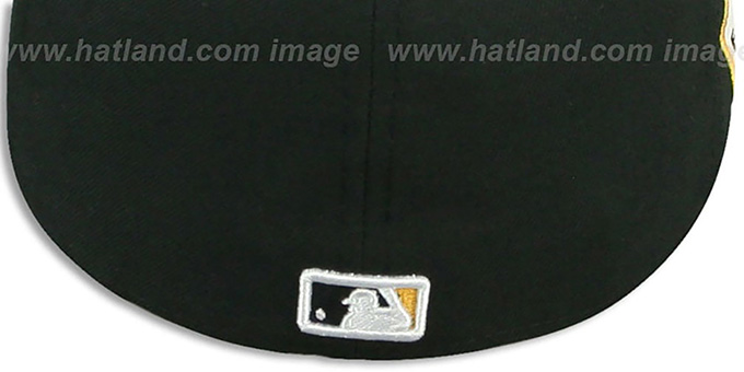 Pirates 'SIDE TEAM-PATCH' Black Fitted Hat by New Era