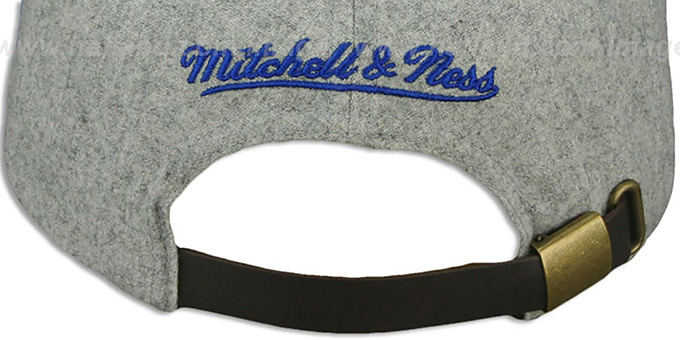 Pistons '2T TAILSWEEPER STRAPBACK' Grey-Royal Hat by Mitchell & Ness