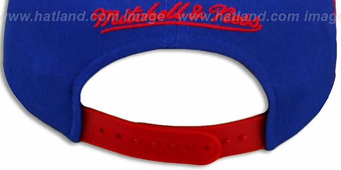 Pistons 'LASER-STITCH SNAPBACK' Royal-Red Hat by Mitchell & Ness