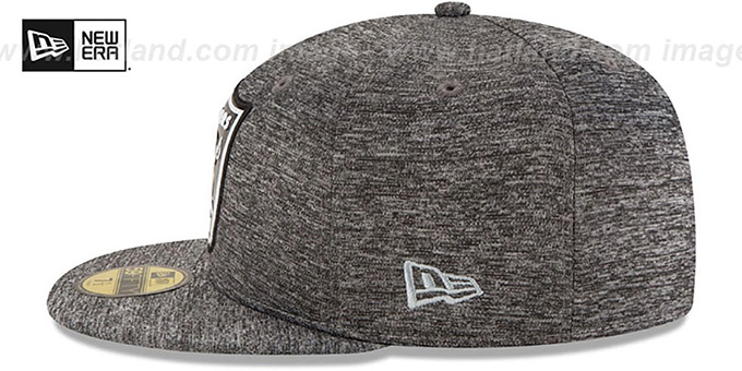 Raiders 'BEVEL' Heather Grey Fitted Hat by New Era