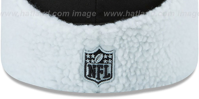 Raiders 'FLURRY-FIT DOGEAR' Black Fitted Hat by New Era