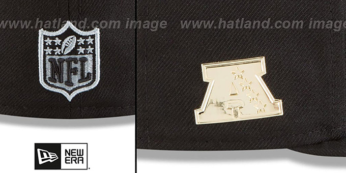 Raiders 'GILDED TURN' Black Fitted Hat by New Era