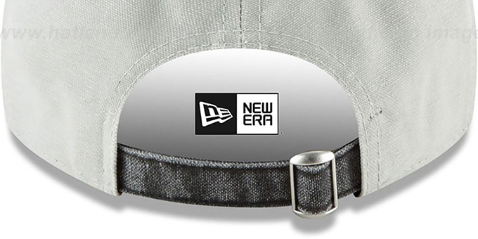 Raiders 'GW RUGGED CANVAS STRAPBACK' Grey-Black Hat by New Era