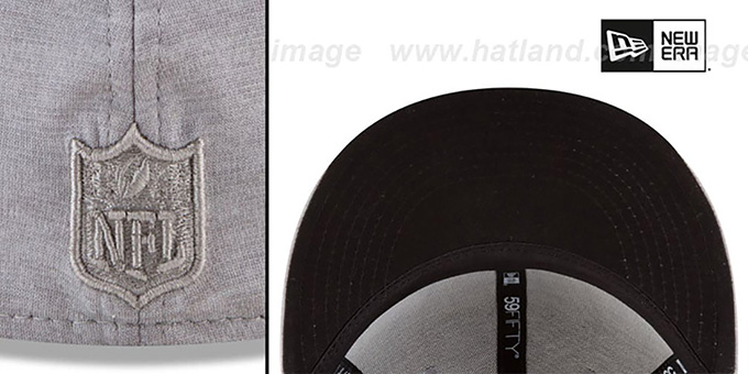 buy popular 0d8fa d13fa ... Raiders  MEGATONE  Grey Shadow Tech Fitted Hat by New Era