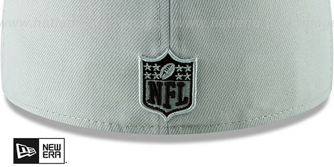 Raiders 'METAL-N-THREAD' Grey Fitted Hat by New Era
