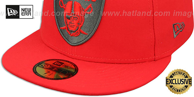 Raiders 'NFL TEAM-BASIC' Fire Red-Charcoal Fitted Hat by New Era