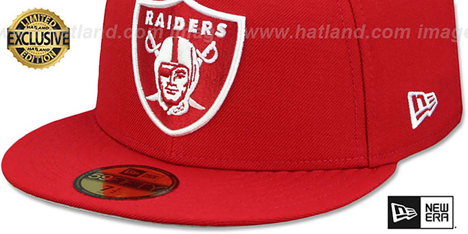 Raiders 'NFL TEAM-BASIC' Red-White Fitted Hat by New Era