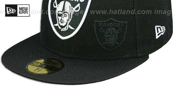 Raiders 'STADIUM SHADOW' Black Fitted Hat by New Era