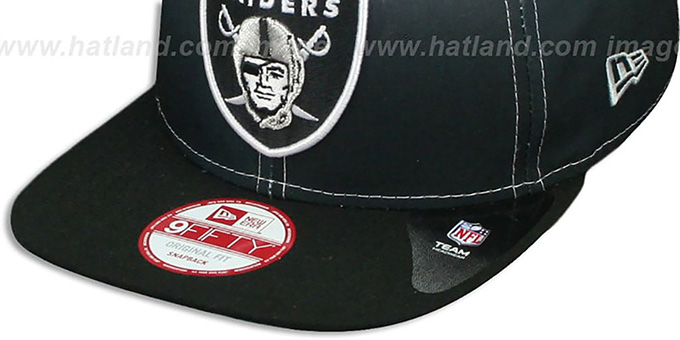Raiders 'SUBLENDER SNAPBACK' Black-White Hat by New Era
