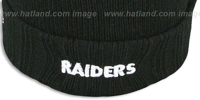 a38160b4442013 ... Raiders 'SUPER BOWL PATCHES' Black Knit Beanie Hat by New Era