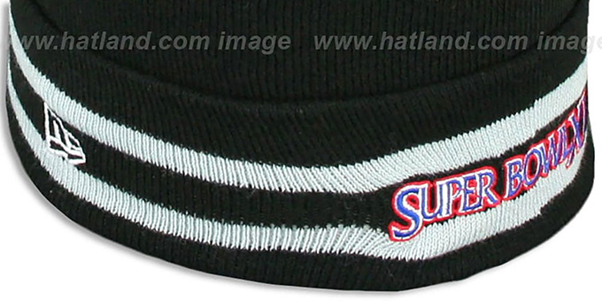 Raiders 'SUPER BOWL XI' Black Knit Beanie Hat by New Era