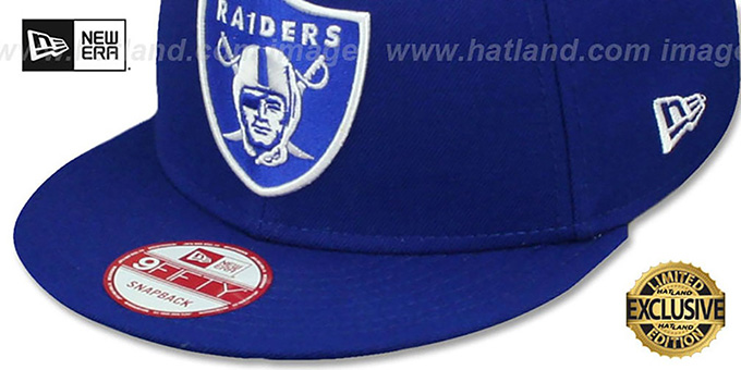 ... Raiders  TEAM-BASIC SNAPBACK  Royal-White Hat by New Era d9cdd141c16