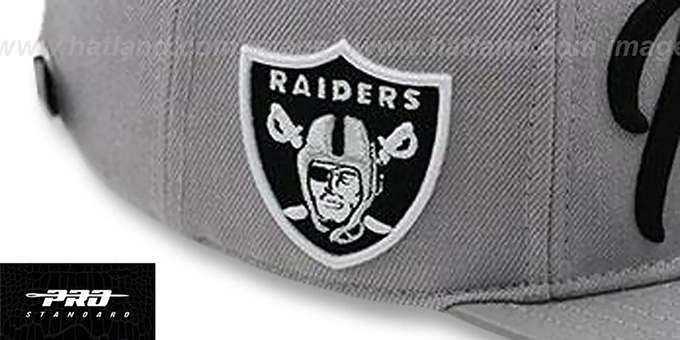Raiders 'TEAM-SCRIPT STRAPBACK' Grey Hat by Pro Standard