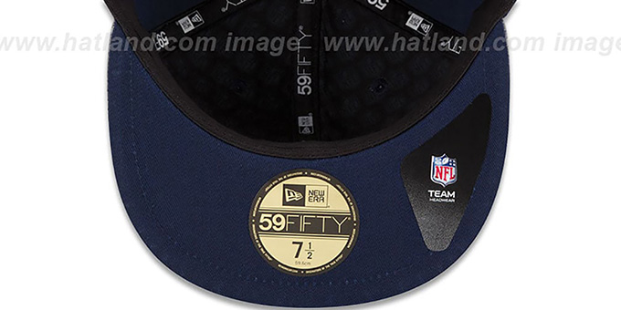 05858495 St Louis Rams 2014 NFL DRAFT Navy Fitted Hat by New Era