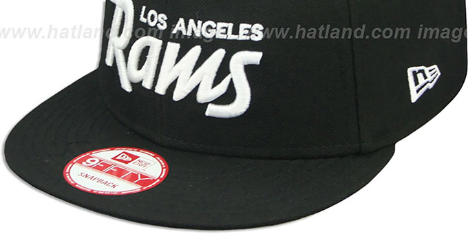 Rams 'SCRIPT TEAM-BASIC SNAPBACK' Black-White Hat by New Era