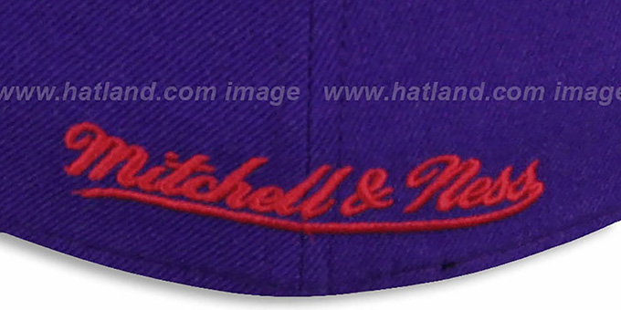Raptors 'CLASSIC-SCRIPT' Purple Fitted Hat by Mitchell & Ness