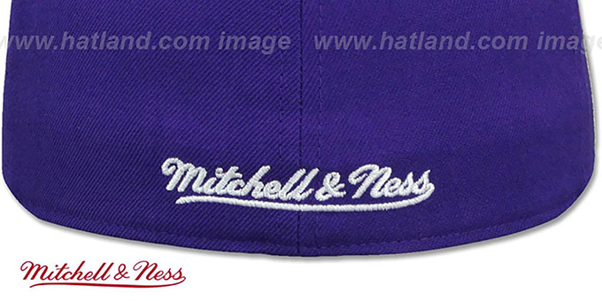 Raptors 'HWC SIDE-PATCH' Purple Fitted Hat by Mitchell and Ness