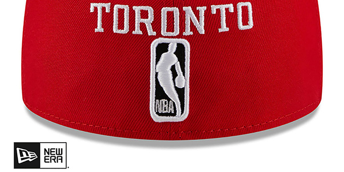 Raptors 'MULTI-AROUND' Red Fitted Hat by New Era