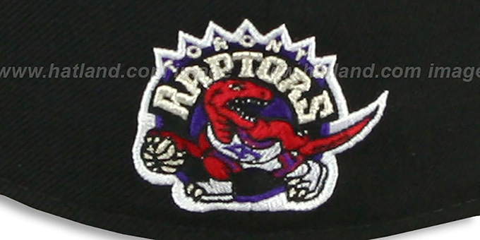 Raptors 'SCRIPT-PUNCH' Black-Purple Fitted Hat by New Era